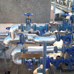 Steam, fuel, gas, water piping