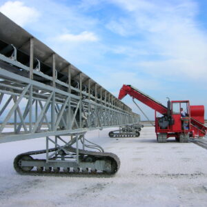 Mobile conveyor belt